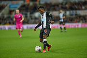 Christian Atsu of Newcastle United during the The FA Cup third round replay match between Newcastle United and Rochdale at St. James's Park, Newcastle, England on 14 January 2020.