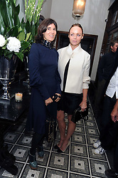 Left to right, BELLA FREUD and STELLA McCARTNEY at Vogue's Celebation of Fashion dinner held at The Albermarle, Brown's Hotel, Albermarle Street, London on 18th September 2008.