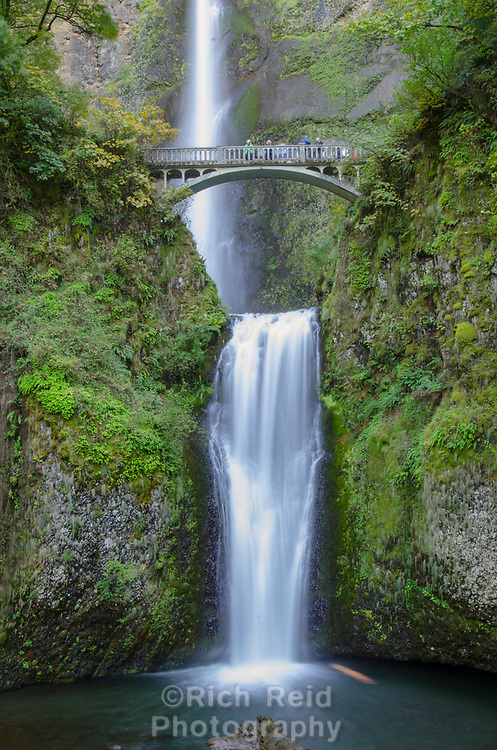 Multnomah Falls near Troutdale, Oregon.