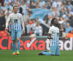 COVENTRY GAEL BIGIRIMANA BEFORE KICK OFF, Coventry City v Oxford United, EFL Checkatrade Trophy Final, Wembley Stadium Sunday 2nd April 2017, <br /> Score Coventry 2-1 Oxford<br /> PhotoMike Capps