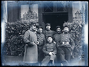 group portrait French soldiers having a good time together Circa 1920s