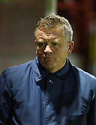 Northampton manager Chris Wilder during the Sky Bet League 2 match between Crawley Town and Northampton Town at the Checkatrade.com Stadium, Crawley, England on 24 November 2015. Photo by David Charbit.