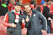 Bayern fans during the Champions League  Group F match between Arsenal and Bayern Munich at the Emirates Stadium, London, England on 20 October 2015. Photo by Alan Franklin.