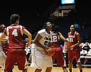 """Ole Miss' Nikki Byrd (22) at the C.M. """"Tad"""" Smith Coliseum in Oxford, Miss. on Thursday, January 12, 2012."""