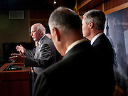 Aug 5, 2010 - Washington, District of Columbia, U.S., -  Senator PATRICK LEAHY (D-VT)  during a press conference after the United States Senate confirmed Solicitor General Elena Kagan as the 112th justice to the Supreme Court Thursday by a vote of 63-37. Kagan could be sworn into her judicial post by week's end..(Credit Image: © Pete Marovich/ZUMA Press)