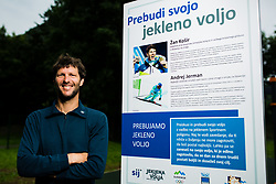 Portrait of Andrej Jerman, former Slovenian Olympian in downhill and multiple downhill world cup winner. Bistrica pri Trzicu, 3. July 2020, Trzic, Slovenia. Photo by Grega Valancic / Sportida