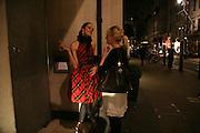 Sophia Rugge and Nathalie Burgun, Tatler's Little Black Book party. Tramp. Jermyn St.  London. 7 November 2007. -DO NOT ARCHIVE-© Copyright Photograph by Dafydd Jones. 248 Clapham Rd. London SW9 0PZ. Tel 0207 820 0771. www.dafjones.com.