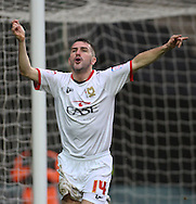 Picture by David Horn/Focus Images Ltd +44 7545 970036.26/12/2012.Ryan Lowe of Milton Keynes Dons celebrates scoring the opening goal during the npower League 1 match at stadium:mk, Milton Keynes.