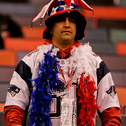 2009 November 30:  A New England Patriots fans in the stands before kickoff of a 38-17 win by the New Orleans Saints over the New England Patriots at the Louisiana Superdome in New Orleans, Louisiana.