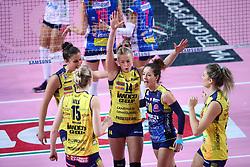 09-12-2017 ITA: Igor Gorgonzola Novara - Imoco Volley Conegliano, Novara<br /> Joanna Wolosz #14 of Imoco Volley Conegliano, Monica de Gennaro #10 of Imoco Volley Conegliano<br /> <br /> *** Netherlands use only ***