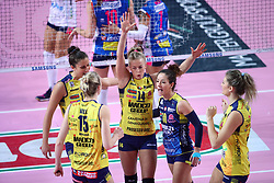 09-12-2017 ITA: Igor Gorgonzola Novara - Imoco Volley Conegliano, Novara<br /> Joanna Wolosz #14 of Imoco Volley Conegliano, Monica de Gennaro #10 of Imoco Volley Conegliano<br /> <br /> *** Netherlands use only ***