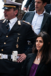 June 15, 2018 - Rome, Italy, Italy - The mayor of Rome, Virginia Raggi, leaves the Capitol to go to power of attorney after the events of the arrests inherent in the Roma stadium. on June 15, 2018 in Rome, Italy. (Credit Image: © Andrea Ronchini/NurPhoto via ZUMA Press)