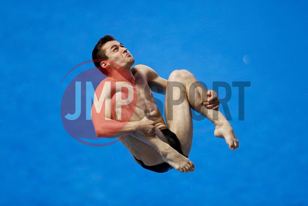 Yauheni Karaliou of Belarus in action in the Mens 3m Springboard - Photo mandatory by-line: Rogan Thomson/JMP - 07966 386802 - 21/08/2014 - SPORT - DIVING - Berlin, Germany - SSE im Europa-Sportpark - 32nd LEN European Swimming Championships 2014 - Day 9.