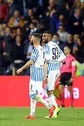 "Foto LaPresse/Filippo Rubin<br /> 16/03/2019 Ferrara (Italia)<br /> Sport Calcio<br /> Spal - Roma - Campionato di calcio Serie A 2018/2019 - Stadio ""Paolo Mazza""<br /> Nella foto: ESULTANZA GOAL SPAL MOHAMED FARES (SPAL)<br /> <br /> Photo LaPresse/Filippo Rubin<br /> March 16, 2019 Ferrara (Italy)<br /> Sport Soccer<br /> Spal vs Roma - Italian Football Championship League A 2018/2019 - ""Paolo Mazza"" Stadium <br /> In the pic: CELEBRATION GOAL SPAL MOHAMED FARES (SPAL)"