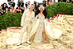 Cardi B and Jeremy Scott attending the Metropolitan Museum of Art Costume Institute Benefit Gala 2018 in New York, USA. PRESS ASSOCIATION Photo. Picture date: Picture date: Monday May 7, 2018. See PA story SHOWBIZ MET Gala. Photo credit should read: Ian West/PA Wire