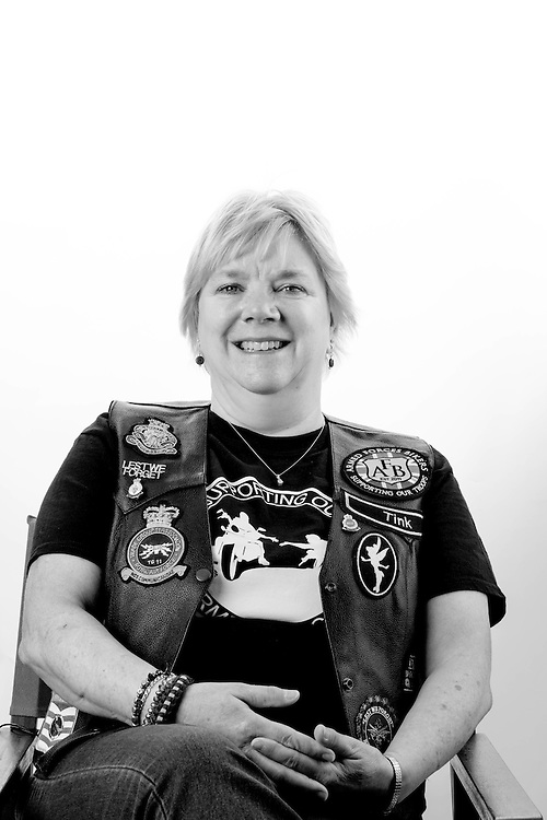 Claire Baines, RAF, 1978-1989, Corporal, Comms TG11, Cyprus.  Claire met her husband Steve whilst they were both serving in Cyprus.  Claire is a member of the Armed Forces Bikers where she is known as 'Tink""