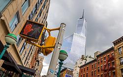 THEMENBILD - Das One World Trade Center ist das Hauptgebaeude des Wiederaufbau vom World Trade Center Komplex. Es ist das groesste Gebaeude der westlichen Heimsphere und das sechst groesste weltweit, Aufgenommen am 10. August 2016 // The One World Trade Center is the main building of the rebuilt World Trade Center complex in Lower Manhattan. It is the tallest building in the Western Hemisphere, and the sixth-tallest in the world, New York City, United States on 2016/08/10. EXPA Pictures © 2016, PhotoCredit: EXPA/ Sebastian Pucher