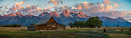The famous Mouton Barn located in the Grand Tetons National Park