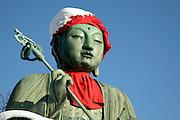 Nure Botoke Jizo statue at Zenkoji temple Nagano