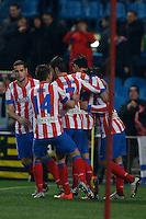 31.01.2013 SPAIN - Copa del Rey 12/13 Matchday 1/4  match played between Atletico de Madrid vs Sevilla Futbol Club (2-1) at Vicente Calderon stadium. The picture show
