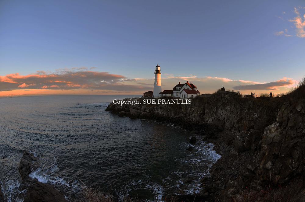 November Sunset, Portland Head Lighthouse, Portland Maine