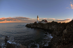 November Sunset, Portland Head Lighthouse, Portland Maine