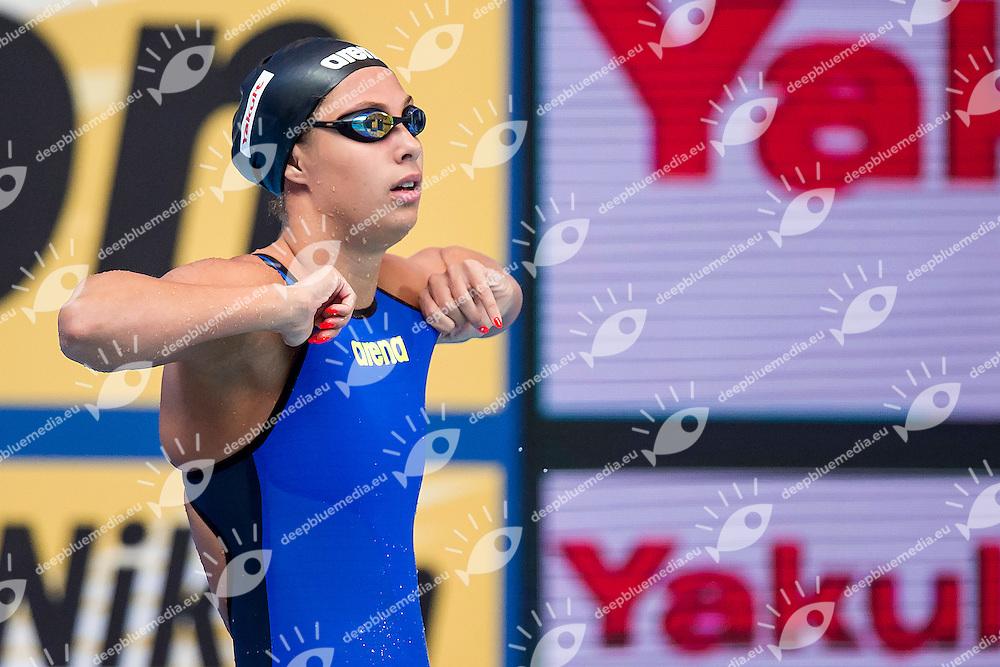CASTIGLIONI Arianna ITA<br /> 100 Breaststroke Women Heats<br /> Swimming - Kazan Arena<br /> Day11 03/08/2015<br /> XVI FINA World Championships Aquatics Swimming<br /> Kazan Tatarstan RUS July 24 - Aug. 9 2015 <br /> Photo A.Masini/Deepbluemedia/Insidefoto