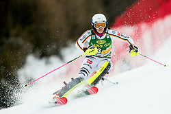 "Christina Geiger (GER) in action during 1st Run of the FIS Alpine Ski World Cup 2017/18 7th Ladies' Slalom race named ""Golden Fox 2018"", on January 7, 2018 in Podkoren, Kranjska Gora, Slovenia. Photo by Ziga Zupan / Sportida"