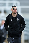 Miguel Almiron (#24) of Newcastle United arrives ahead of the Premier League match between Newcastle United and Bournemouth at St. James's Park, Newcastle, England on 9 November 2019.
