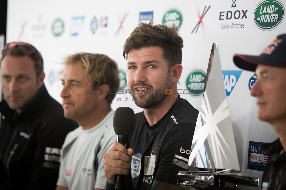 2015 Extreme Sailing Series - Act 5 - Hamburg<br /> Act 5 Hamburg press conference.<br /> Credit Jesus Renado
