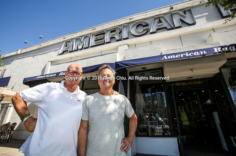 Larry Russ, right, and Mark Wertz, cofounders of retailer American Rag.(Photo by Ringo Chiu/PHOTOFORMULA.com)