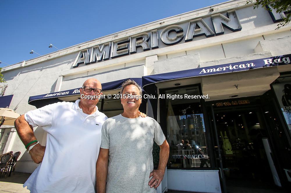Larry Russ, right, and Mark Wertz, cofounders of retailer American Rag.(Photo by Ringo Chiu/PHOTOFORMULA.com)