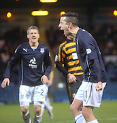Ryan Conroy celebrates after firing Dundee ahead from the penalty spot - Dundee v Alloa Athletic, SPFL Championship at Dens Park<br /> <br />  - &copy; David Young - www.davidyoungphoto.co.uk - email: davidyoungphoto@gmail.com