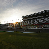 A general overview of the front stretch at  Daytona International Speedway on Thursday, February 21, 2013 in Daytona Beach, Florida.  (AP Photo/Alex Menendez)