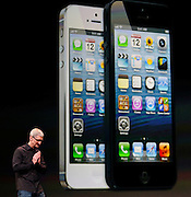 during Apple Inc.'s iPhone media event in San Francisco, California September 12, 2012..