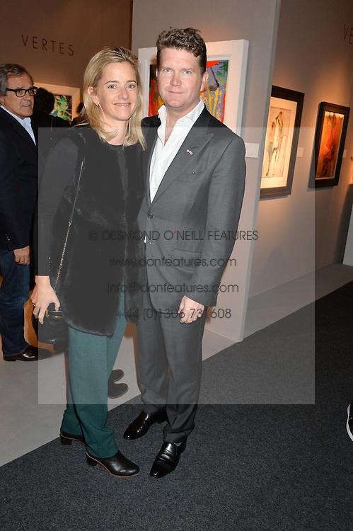 The American Ambassador MATTHEW BARZUN and BROOKE BROWN BARZUN at the PAD London 2015 VIP evening held in the PAD Pavilion, Berkeley Square, London on 12th October 2015.
