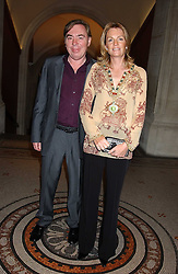 LORD & LADY LLOYD-WEBBER at a dinner hosted by Dom Perignon champagne to celebrate the launch of a new cook book held at the National Portrait Gallery, London on 15th September 2005.<br />