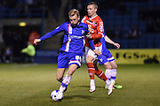 Gillingham midfielder Josh Wright  during the Sky Bet League 1 match between Gillingham and Walsall at the MEMS Priestfield Stadium, Gillingham, England on 12 April 2016. Photo by Martin Cole.