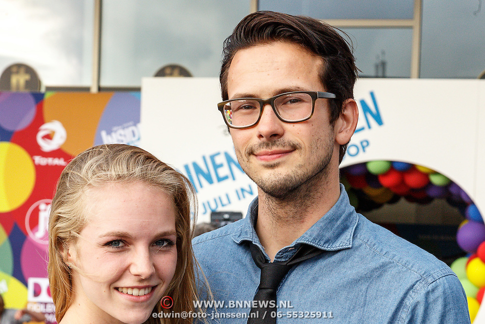 NLD/Hilversum/20150715 - Premiere Binnenstebuiten, Raynor Arkenbout en partner Sietske van der Bijl