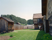 Reconstructed Fort at No. 4, demonstrating life during the mid-1700's at Charlestown, NH