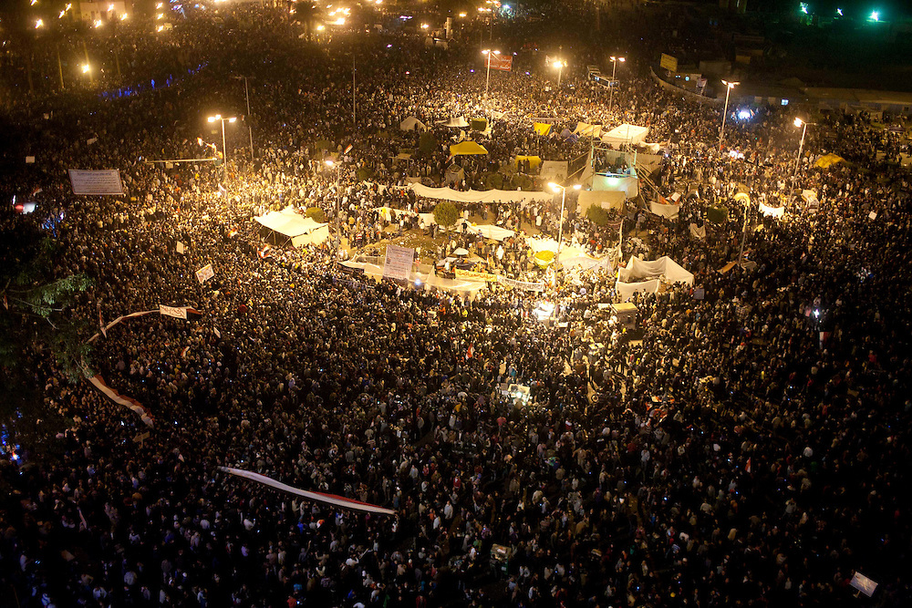 Many thousands of peopel at Tahrir Square on November 22, 2011 photo by: Maya Levin