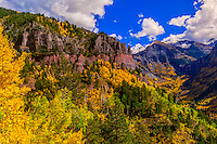 Fall color, 13,114 foot (3997 meter) Imogene Pass, San Juan Mountains, southwest Colorado USA.
