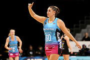 Steel goal defense Te Huinga Reo Selby-Rickit during the ANZ Premiership netball match - Magic v Steel played at Claudelands Arena, Hamilton, New Zealand on 9 July 2018.<br /> <br /> Copyright photo: © Bruce Lim / www.photosport.nz