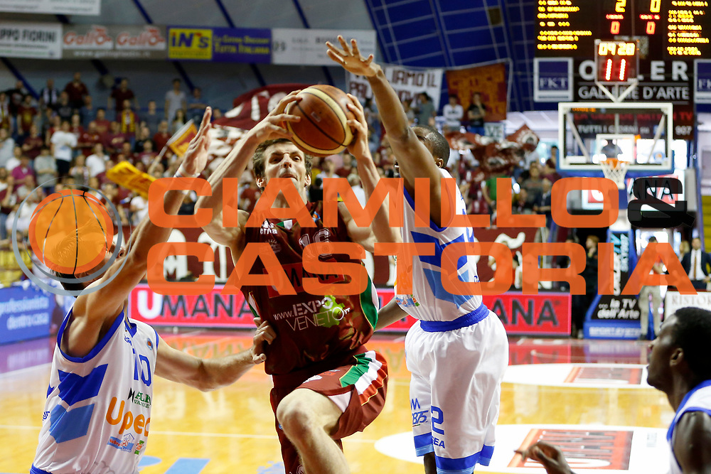 DESCRIZIONE : Venezia Lega A 2014-15 Umana Reyer Venezia Upea Capo d&rsquo;Orlando<br /> GIOCATORE : Benjamin Ortner<br /> CATEGORIA : Tiro<br /> SQUADRA : Umana Reyer Venezia Upea Capo d&rsquo;Orlando<br /> EVENTO : Campionato Lega A 2014-2015<br /> GARA : Umana Reyer Venezia Upea Capo d&rsquo;Orlando<br /> DATA : 10/05/2015<br /> SPORT : Pallacanestro <br /> AUTORE : Agenzia Ciamillo-Castoria/G. Contessa<br /> Galleria : Lega Basket A 2014-2015 <br /> Fotonotizia : Venezia Lega A 2014-15 Umana Reyer Venezia Upea Capo d&rsquo;Orlando
