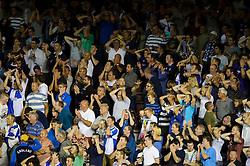 Bristol Rovers supporters hold their heds after a shot goes just wide during the second half of the match - Photo mandatory by-line: Rogan Thomson/JMP - Tel: 07966 386802 - 04/09/2013 - SPORT - FOOTBALL - Ashton Gate, Bristol - Bristol City v Bristol Rovers - Johnstone's Paint Trophy - First Round - Bristol Derby