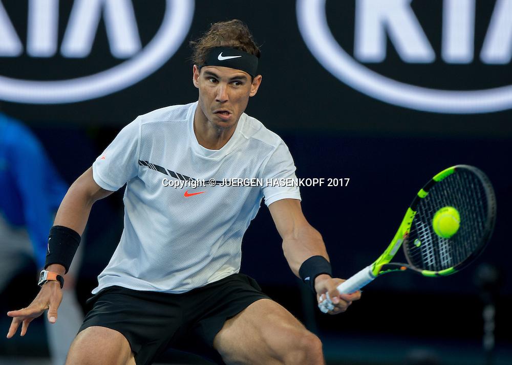 RAFAEL NADAL (ESP)<br /> <br /> Australian Open 2017 -  Melbourne  Park - Melbourne - Victoria - Australia  - 21/01/2017.