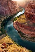 Horseshoe Bend on the Colorado River. Glen Canyon near Page, Arizona.