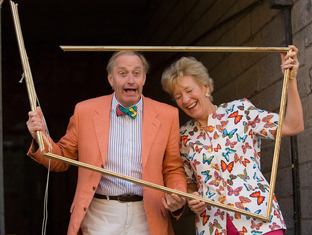 Former MP Neil Hamilton and wife Christine at the launch of the first Fringe Framed photography competition Edinburgh High Street August 2006<br />