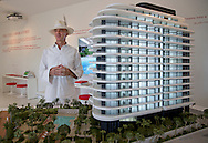 Developer Alan Faena at Faena Sales Center on Miami Beach.
