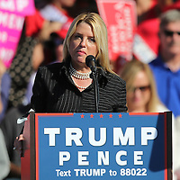 Florida Attorney General Pam Bondi speaks at Republican presidential candidate Donald Trump's event at the Central Florida Fairgrounds in Orlando, Florida USA  02 Nov 2016